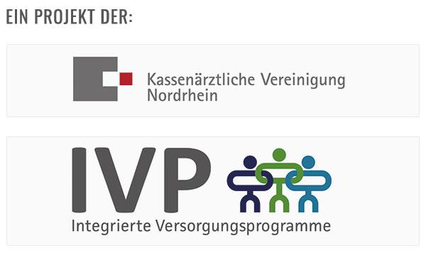 Bild Logos Kassenärztliche Vereinigung Nordrhein und IVP(Integrierte Versoorgungsprogramme)